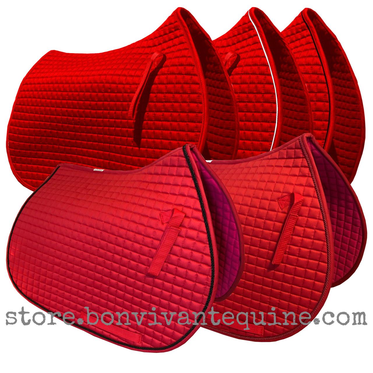 Red All Purpose English Saddle Pads Pri Pacific Rim International