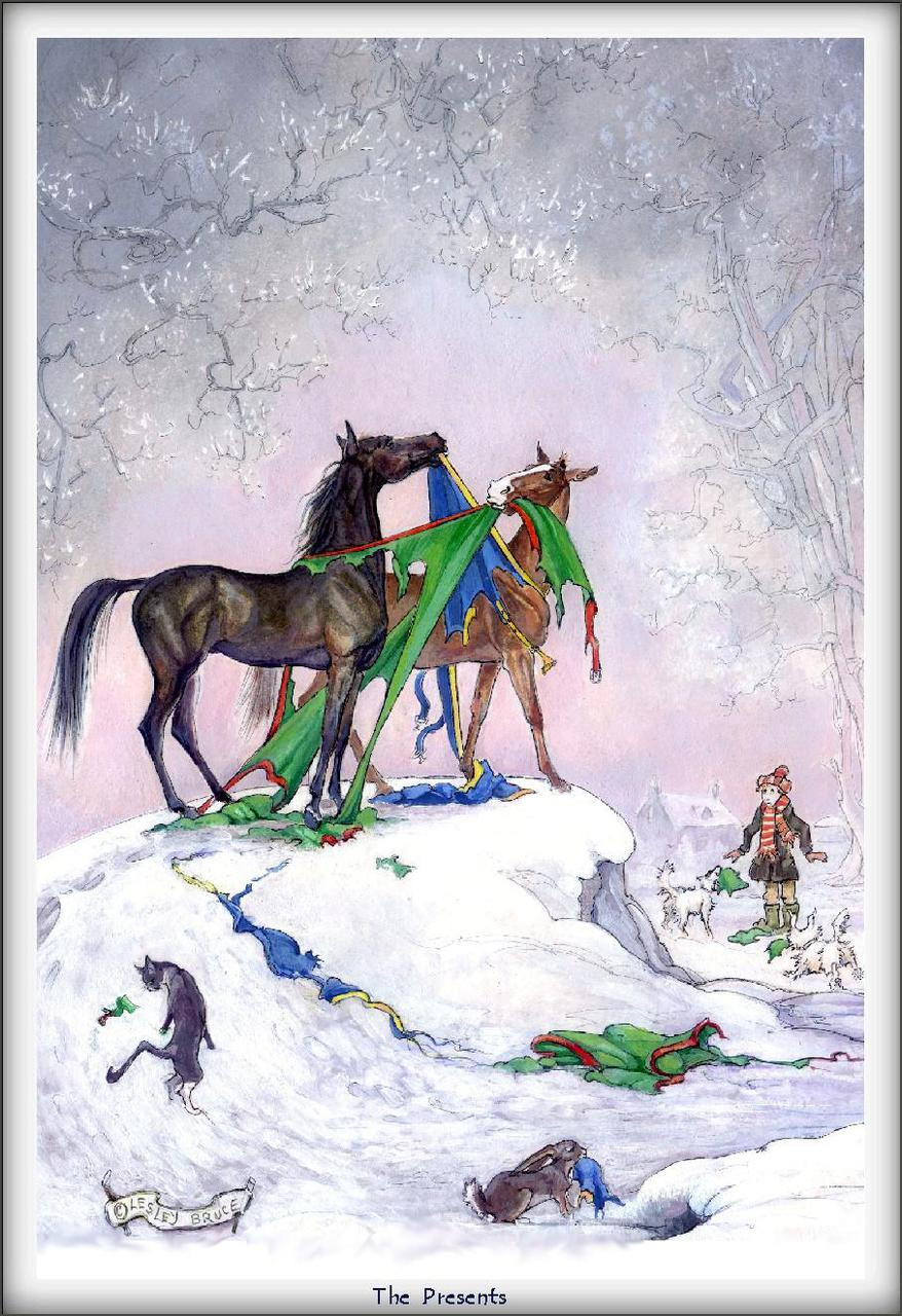 Christmas Horse Card - The Presents - Funny Horse Cards | Jude Too ...