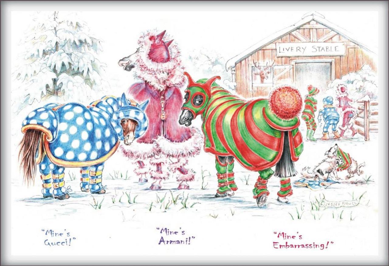 Christmas Horse Card Mines Gucci Jt41