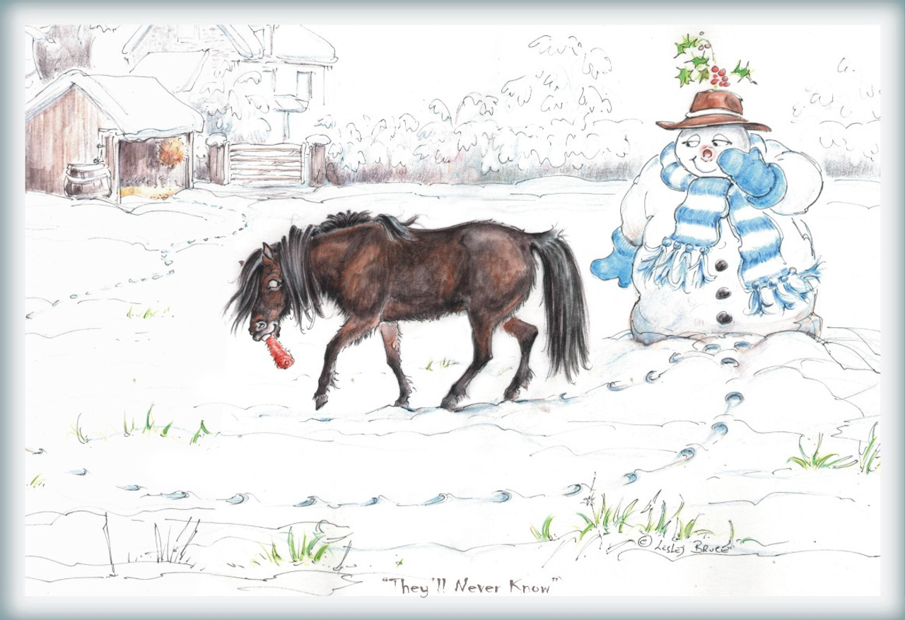 Christmas Horse Pictures.Christmas Horse Cards They Ll Never Know Funny Horse Cards Jude Too Lesley Bruce Discontinued