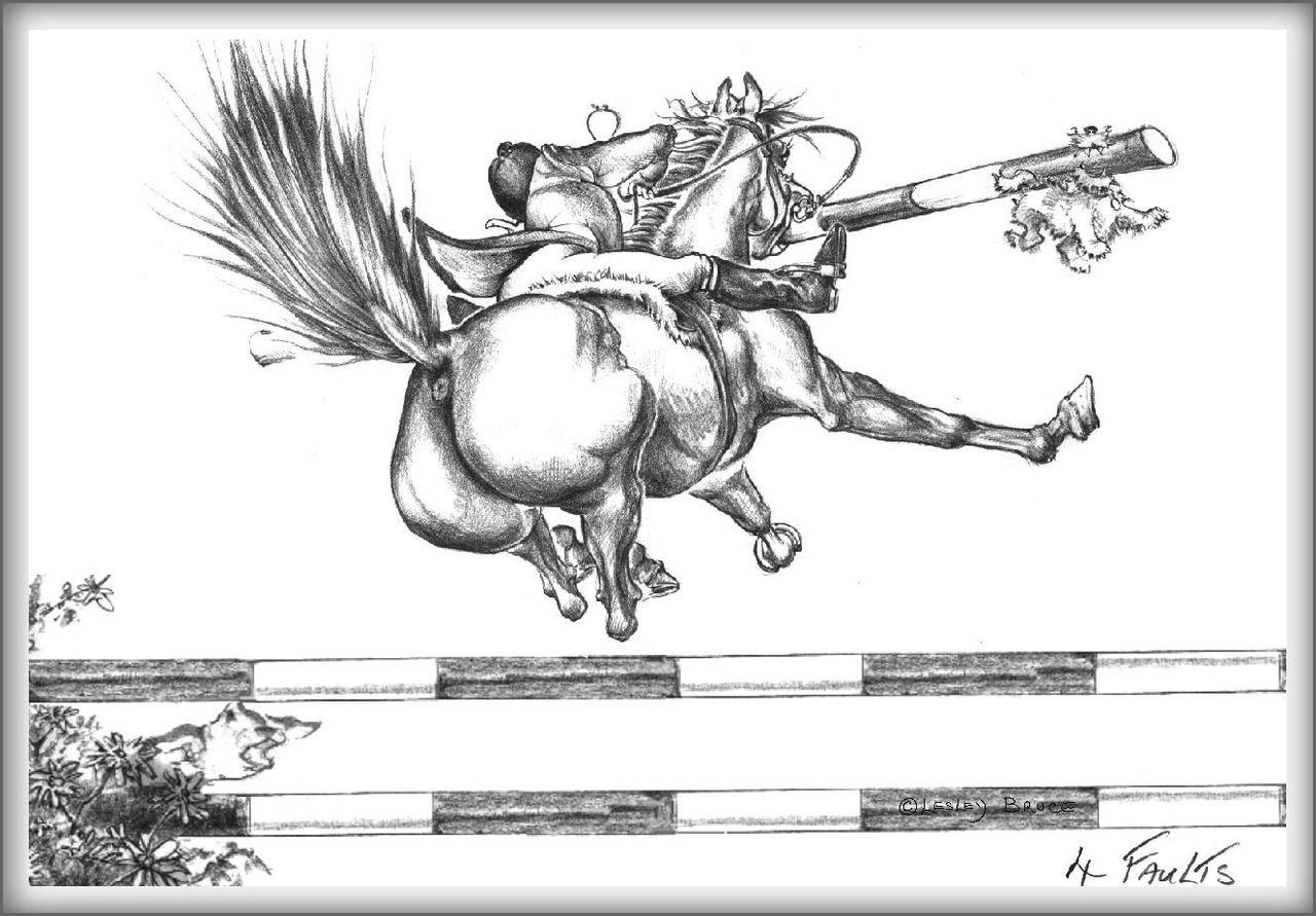 4 Faults Funny Horse Cards Jude Too Lesley Bruce Bon Vivant Unique Equestrian Supply Accessories