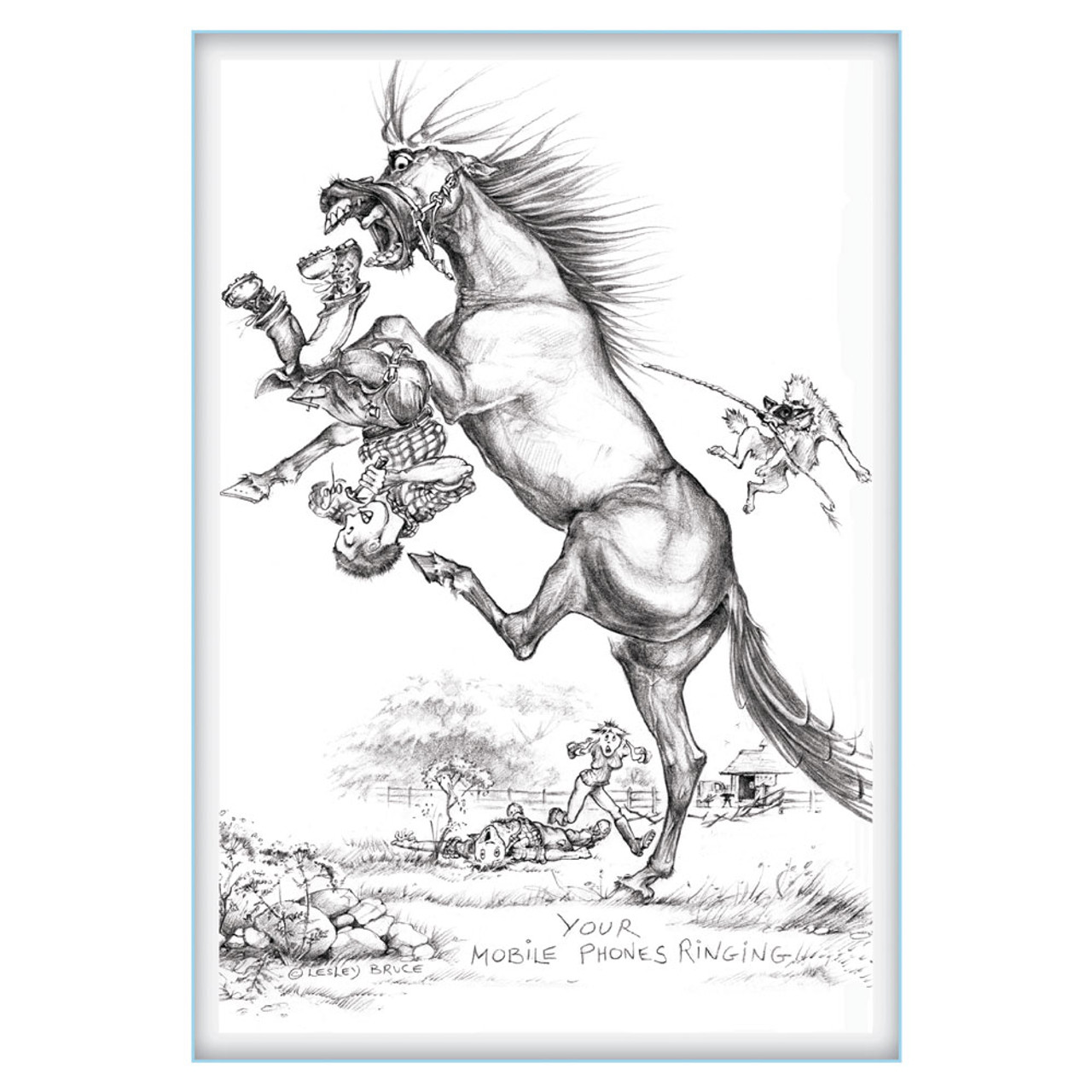 Sit Absolutely Still Funny Horse Cards Jude Too Lesley Bruce Bon Vivant Unique Equestrian Supply Accessories