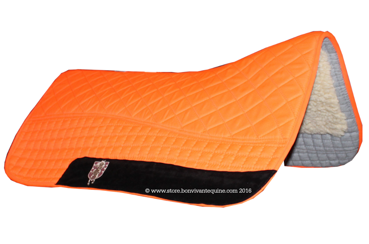 Neon Hunter Safety Blaze Orange Western Saddle Pad | PRI Double-Back Saddle  Blankets