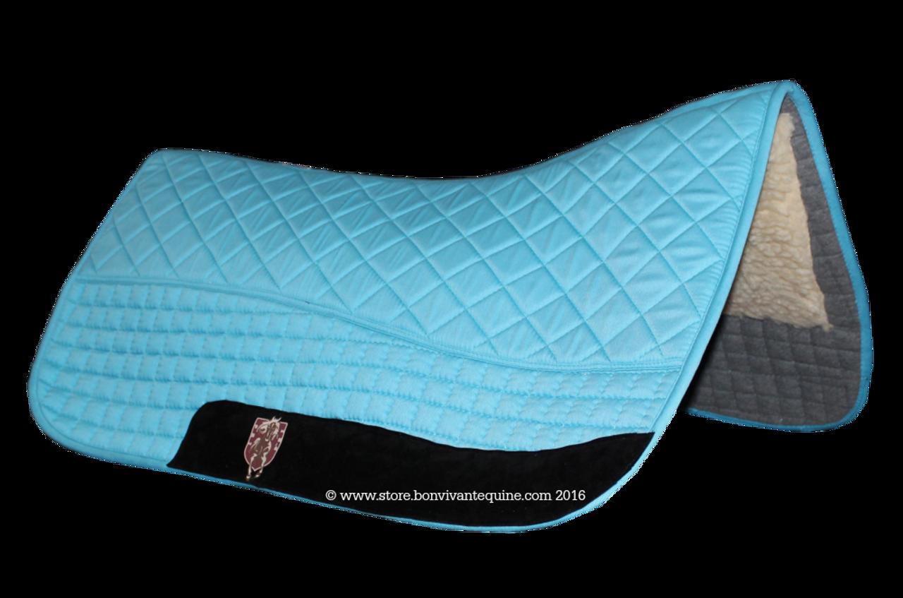 Turquoise Atlantic Blue Western Saddle Pad Pri Double Back Saddle Blankets Bon Vivant Unique Equestrian Supply Accessories