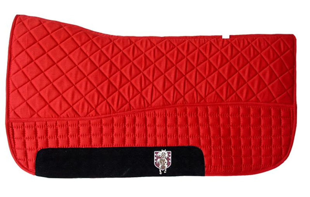 Red Western Saddle Pad Pri Double Back Saddle Blankets Bon Vivant Unique Equestrian Supply Accessories