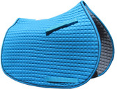 Atlantic Turquoise Sea Blue with optional black piping All-Purpose English Saddle Pad.