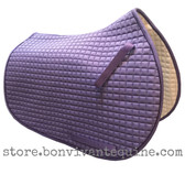 Lavender/Violet/Lilac Purple All-Purpose English Saddle Pad Shown Here with Purple Piping.