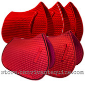 Red All-Purpose English Saddle Pads by PRI Pacific Rim International
