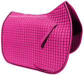 Hot Pink Dressage Saddle Pad - Gorgeous and bright magenta pink coloring that looks stunning on horse coats of all colors!  Also available in pony and all-purpose sizes.