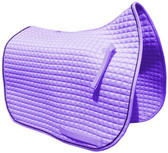 Violet | Lilac | Lavender Dressage Saddle Pad with Black Piping