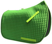 Lime Green Dressage Saddle Pad - Shown here with black trim/piping.