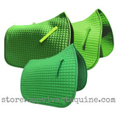 Lime Green Dressage Saddle Pads