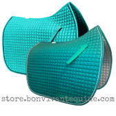 Teal Dressage Saddle Pads by PRI Pacific Rim International