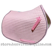 Baby Pink All-Purpose English Saddle Pad.