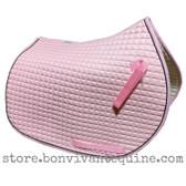 Baby Pink All-Purpose English Saddle Pad.