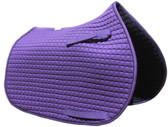 Purple Pony Saddle Pad with Black Trim