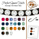 It is rare to find such and extraordinary square crystal browband.  This is the perfect addition to your dressage attire.