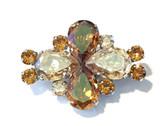 "Copper Chestnut Shimmer Dressage Brooch / Stock Pin   ""Fleur"" by Beasties™"