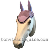 Lilac Lavender Purple Fly Veil / Horse Bonnet (Shown here with black trim).
