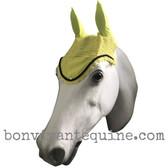Lemon Yellow Horse BonnetsFly Veilwith Bling Horse, 7. Black