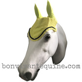 Lemon Yellow Fly Veil / Horse Bonnet (Shown here with black trim).