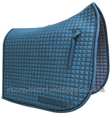 Coast Blue with Black Piping/Trim Olympic Flag-Tail | PRI Dressage Saddle Pad