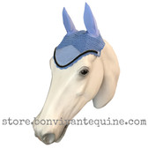 Periwinkle Smoke Bling Horse Crochet Fly Bonnets