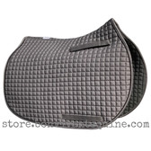 Gray All-Purpose English Saddle Pad.  Shown here with black piping/trim.