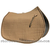 Khaki Brown All-Purpose English Saddle Pad.  Shown here with black piping/trim.