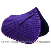 Purple Pony Saddle Pad with Pink Piping