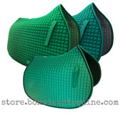 Kelly Green and Emerald Green All-Purpose English Saddle Pads