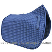 Periwinkle Smoke Dressage Saddle Pad with Black Piping