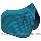 Pine Forest Green Dressage Saddle Pad with black piping.