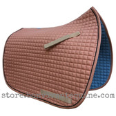Rust Dressage Saddle Pad with black piping.