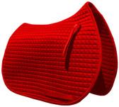 Red All-Purpose English Saddle Pad by PRI Pacific Rim.