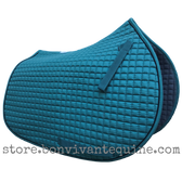 Pine Forest Green All-Purpose Saddle Pad with Black Piping.