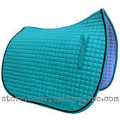 New Mint Green Dressage Saddle Pad with black accent rope cording by PRI Pacific Rim