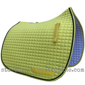 New Yellow Dressage Saddle Pad with black accent rope cording by PRI Pacific Rim