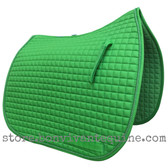 Apple Lime Green Dressage Saddle Pad with Matching Accent Cord/Rope.