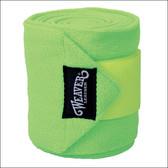 Lime Green Fleece Polo Wraps (Set of 4) | Weaver