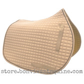 Elegant Beige All-Purpose English Saddle Pad