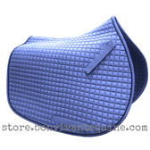 Smoke All-Purpose Saddle Pad with Black Piping.
