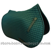 Hunter Green All-Purpose Saddle Pad with Black Piping.