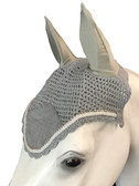 Gray   Fly Veil   with Bling and  #41 Light Silver Rope/Cord Trim