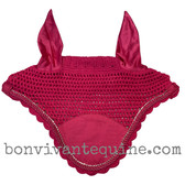 Magenta Hot Pink Horse Bonnets   Fly Veil   with Bling and #2 Magenta Rope/Cord Trim