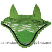 Lime Green Horse Bonnets   Fly Veil   with Bling and #7 Black Rope/Cord Trim