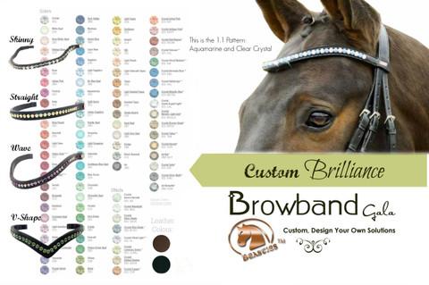 Brilliance Custom Browbands Gala - Design Your Own Gorgeous Browband Using Genuine Swarovski Crystals.