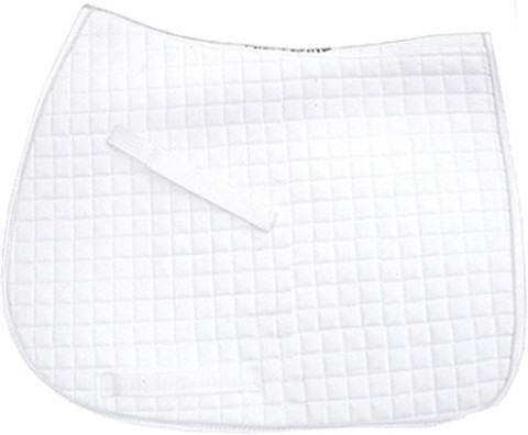 White All-Purpose Saddle Pads | Pink Equine
