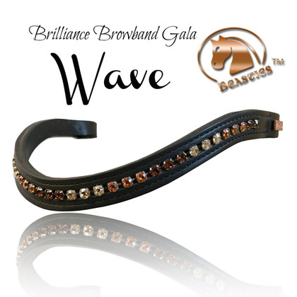 Brilliance Wave Browbands by Beasties Horse Tack Solutions