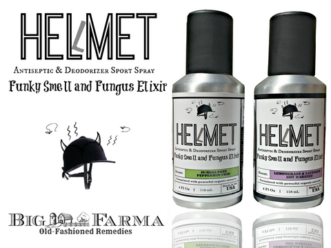 Eliminate Helmet Smell with Big Farma's Helmet Deodorizer Sport Spray | An Anti Fungal Odor Remover